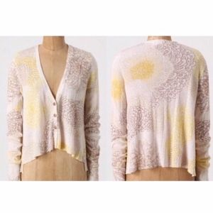 ANTHROPOLOGIE Sparrow Hortensia Floral Cardigan